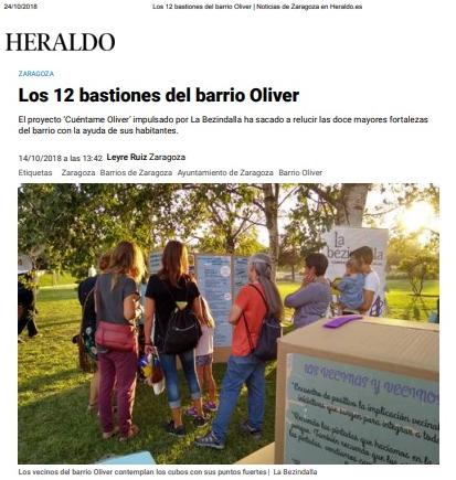 """""""Cuéntame Oliver. Escuela de ciudadanía viva"""" en el Heraldo de Aragón"""