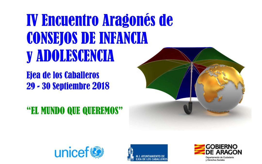 IV Encuentro Aragonés de Consejos de Infancia y Adolescencia, Ejea de los Caballeros 2018